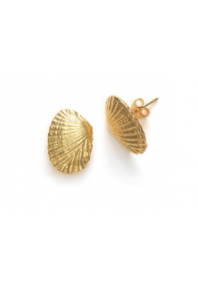 DREAM SEA SHELL EARRINGS, Pair