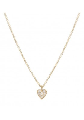 Coeur Diamant, 18K gold, necklace