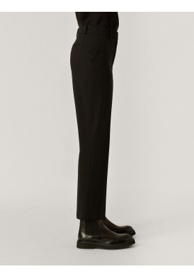 Coleman Light Wool Suiting Trousers, Black