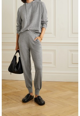 ALLUDEN- CASHMERE PANTS, GREY